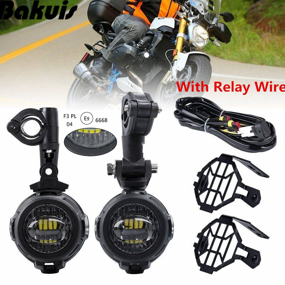1 Set Universal For BMW R1200GS/ADV/F800GS Motorcycle LED Auxiliary Fog Light 40W Driving Headlight