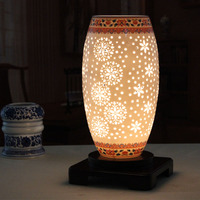 Ceramic Lamp Ofhead Study Lamp Modern Chinese Style New Classical Rustic Table Lamp