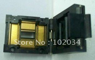 100% NEW FPQ-100-0.65 IC Test Socket / Programmer Adapter / Burn-in Socket  (FPQ-100-0.65-16) 100