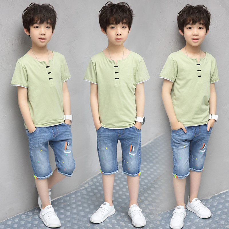 teenage baby boys clothing sets kids boys clothes summer 2017 children set solid t shirts and scrawl jeans pants for boys suits new 2017 summer children 2 pcs set kids clothes boys letter striped t shirts and jeans shorts pants boys children clothing sets