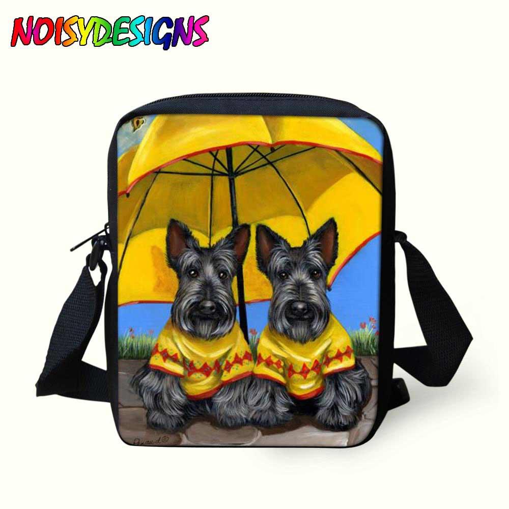 Crossbody-taschen Messenger Taschen Für Kinder Scottie Hunde Muster Schul Kinder Mini Umhängetaschen Junge Mädchen Handtaschen Kühlen Tasche Okul Cantalari Gepäck & Taschen