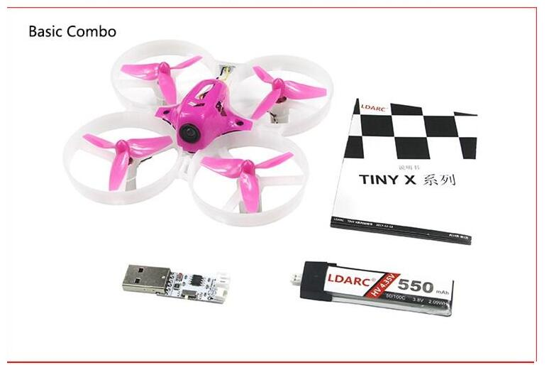 KINGKONG / LDARC TINY 8X 85mm RC Micro FPV Racing Quadcopter Kit With Receiver Basic Version kingkong ldarc tiny 8x tiny8x kit 85mm