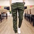 2016 Hot estilo japonês elegante pant calças homens Basculador Homens Moda Sólidos Tornozelo-amarrado Slim Fit Jovens Mens pantalon homme hombre