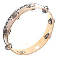 8 Pack 10 Musical Tambourine Drum Round Percussion Gift for KTV Party