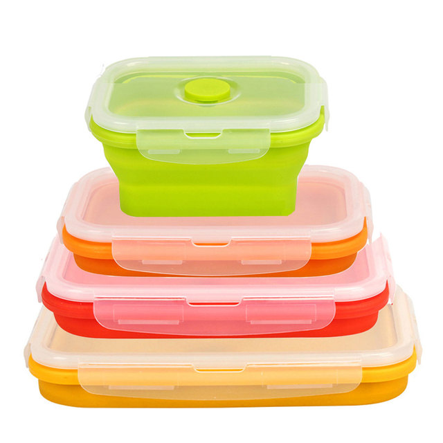 4PCSSET Thin Bins Collapsible Containers Food Storage Containers