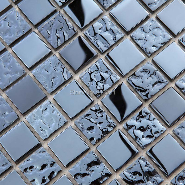 aliexpress.com : acquista mattonelle di mosaico di cristallo deco ... - Blu Piastrelle Del Bagno Mosaico