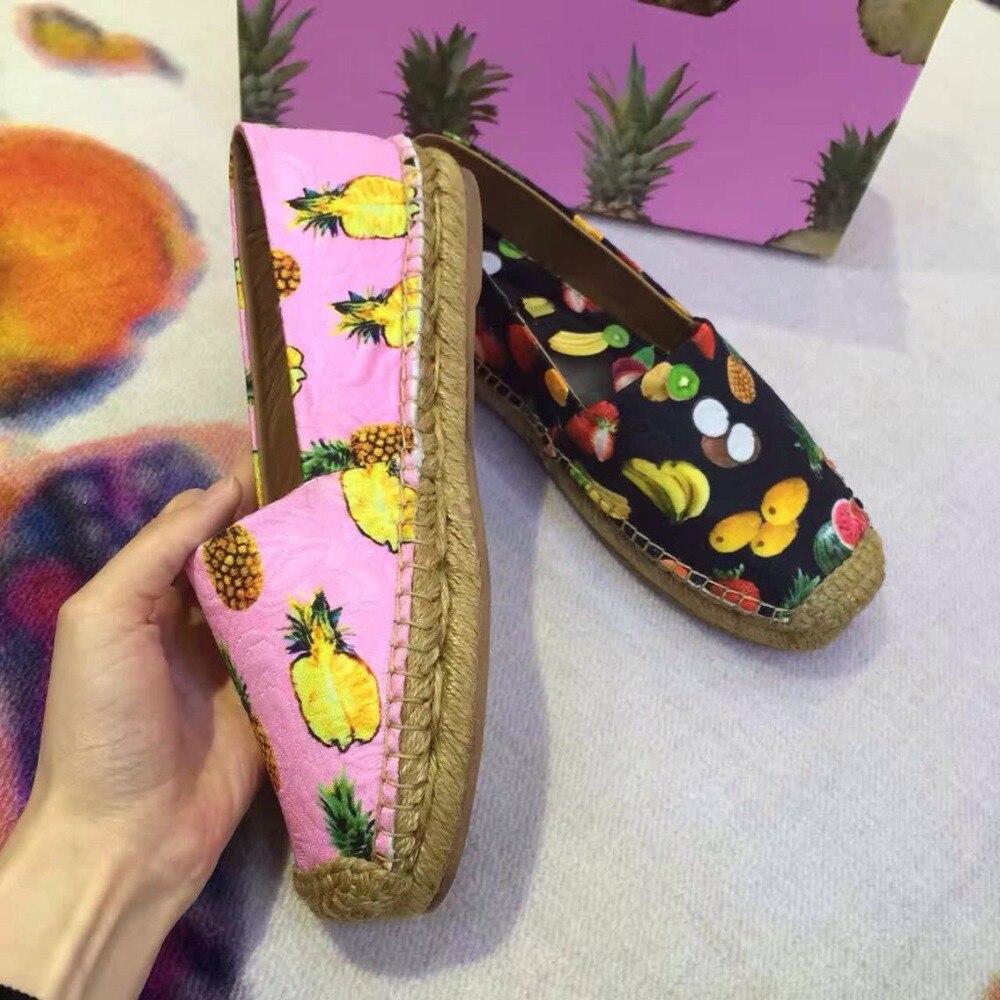 Imprimé Paresseux Chic Casaul Pêcheur Chaussures Printemps Confortables 2017 Sur As Femme Marée Pics Slip Été Nouveau Pics as Designer Appartements wAv1wnfq