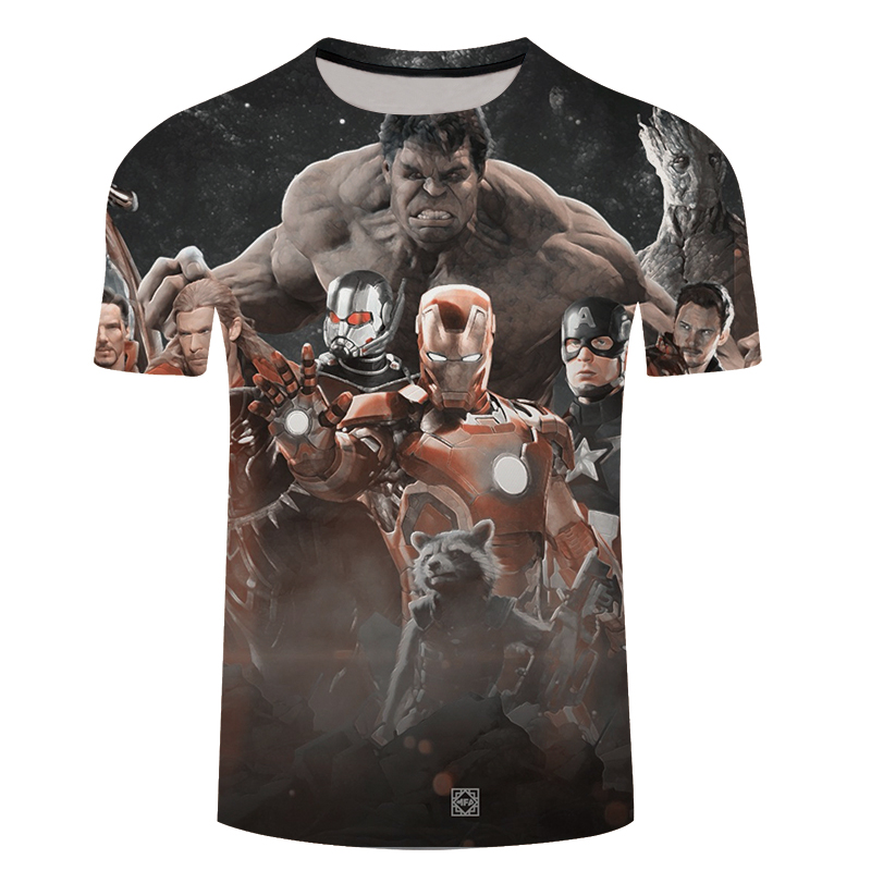 3D T-shirt Men Clothes 2018 Avengers Groot 3D Print Short Sleeve Tee Shirt Top Streetwear Fashion Large Oversize 6XL