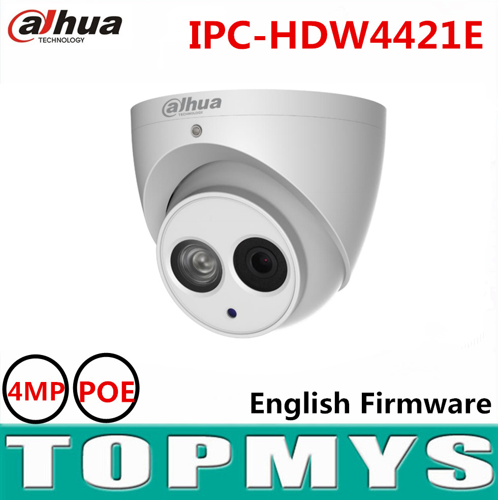 Dahua 4MP POE network IP camera IPC-HDW4421E 1080P HD WDR Network Small IR Dome Camera IR 50M security CCTV ip camera  цена