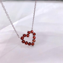 fine jewelry factory wholesale fashionable 925 sterling silver natural garnet heart shape necklace pendant for women kjjeaxcmy fine jewelry 925 sterling silver natural garnet bracelet for sale manufacturing professional wholesale