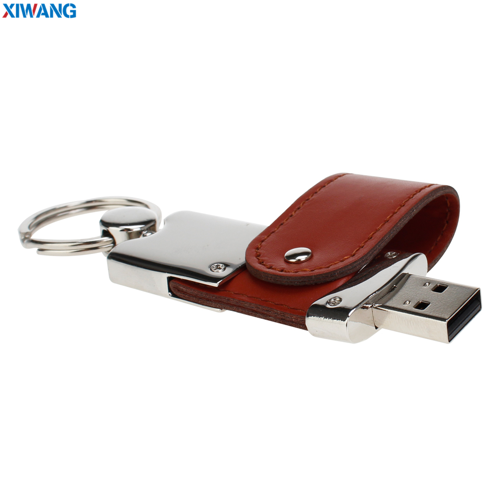 high quality Wrist band USB flash drive 64gb Leather metal keyring Pendrive 128GB 32GB 16GB 8GB 4GB USB2.0 Pen drive custom logo (6)