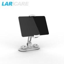 LARICARE aluminio tablet/teléfono campeón del sostenedor del soporte para el ipad/teléfono, tablet soporte de coche del sostenedor del soporte giratorio ajustable LD-204C