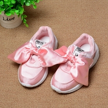 Kids Girls Shoes With Bow Fashion Sneaker Children Baby