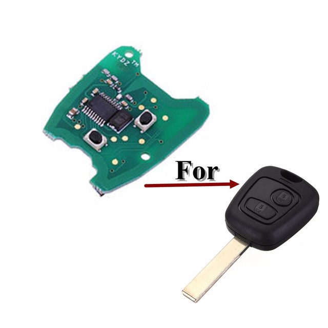 US $6 71 16% OFF|433MHz 2 Button Remote Key FOB Circuit Board For Peugeot  307 /Citroen 73373067C-in Car Key from Automobiles & Motorcycles on