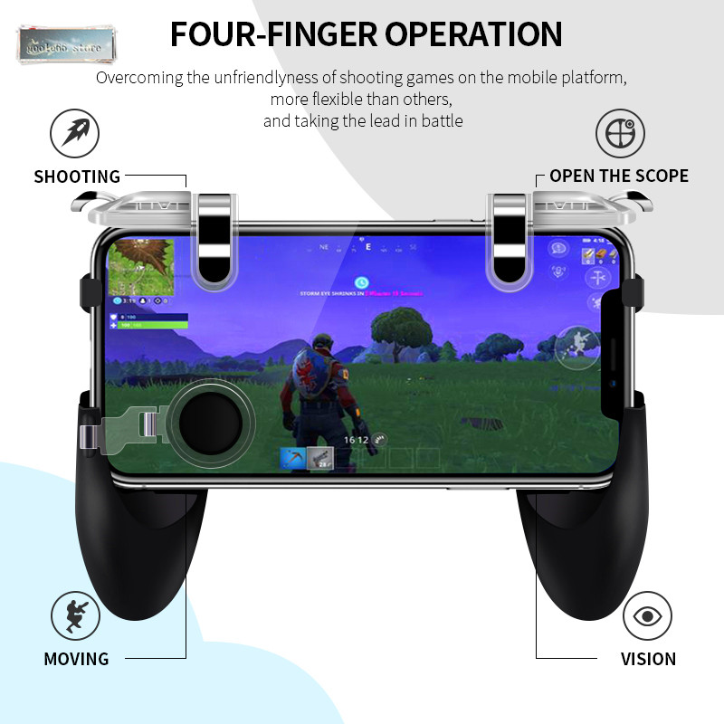 For Pubg Game Gamepad For Mobile Phone Game Controller l1r1 Shooter Trigger Fire Button For IPhone For Free Fire