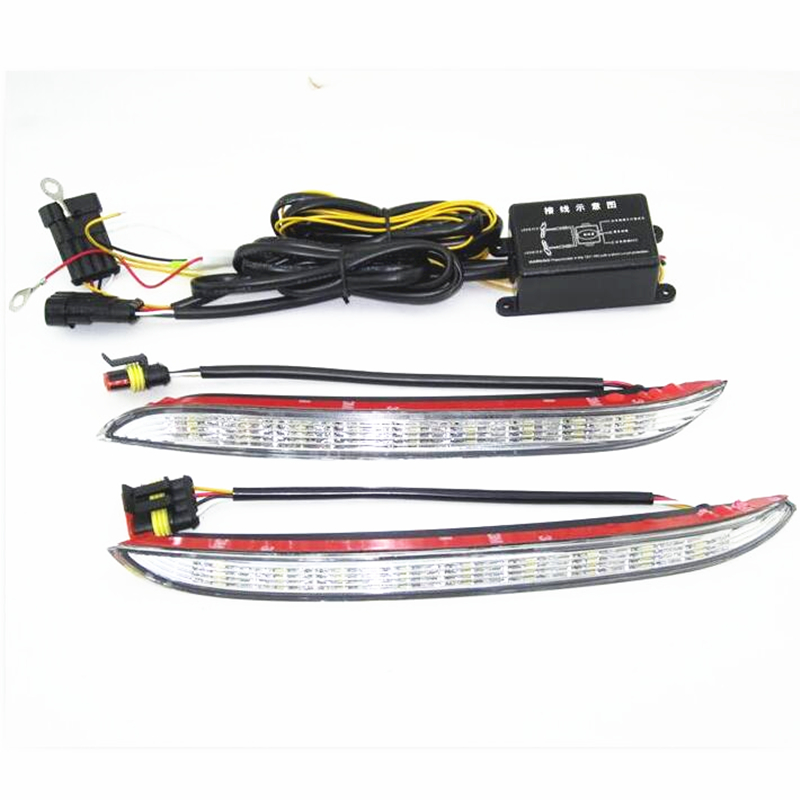 ФОТО DRL Light Turnning Signal Grille Daytime Running Lights For KIA K2/RIO 2012 2013 2014 Super Bright Fog light