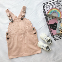 spring autumn children's pants baby overalls baby girl jumpsuit Pink shell shape lovely girls jumpsuit baby clothes