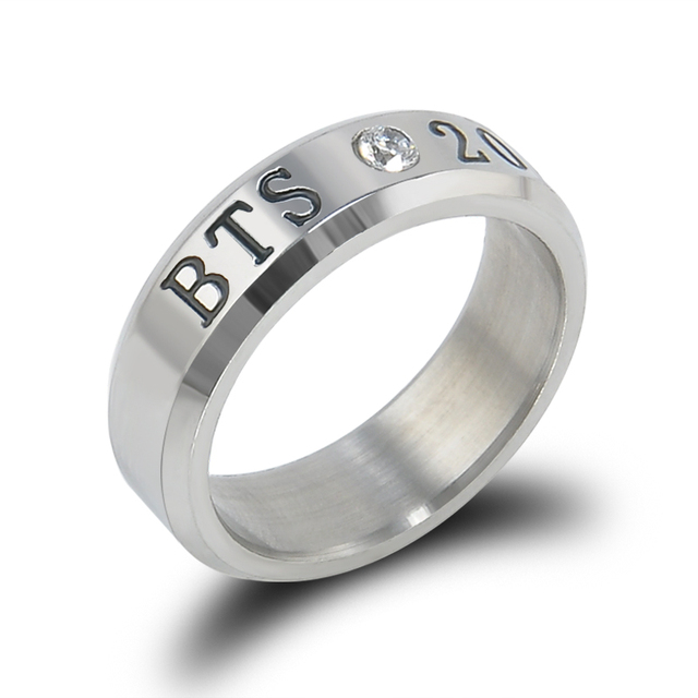 Hot BANGTAN BOYS BTS Ring Men Women Stainless Steel KPOP JUNGKOOK JIMIN JIN V SU