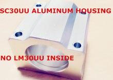 Carcaça de alumínio (sem lm30uu para dentro) para sc30uu scs30uu 30mm bloco de rolamento linear cnc roteador diy peças cnc