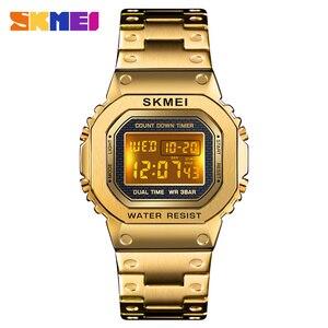 Image 2 - Часы наручные SKMEI мужские электронные светодиодные, цифровые брендовые Роскошные водонепроницаемые