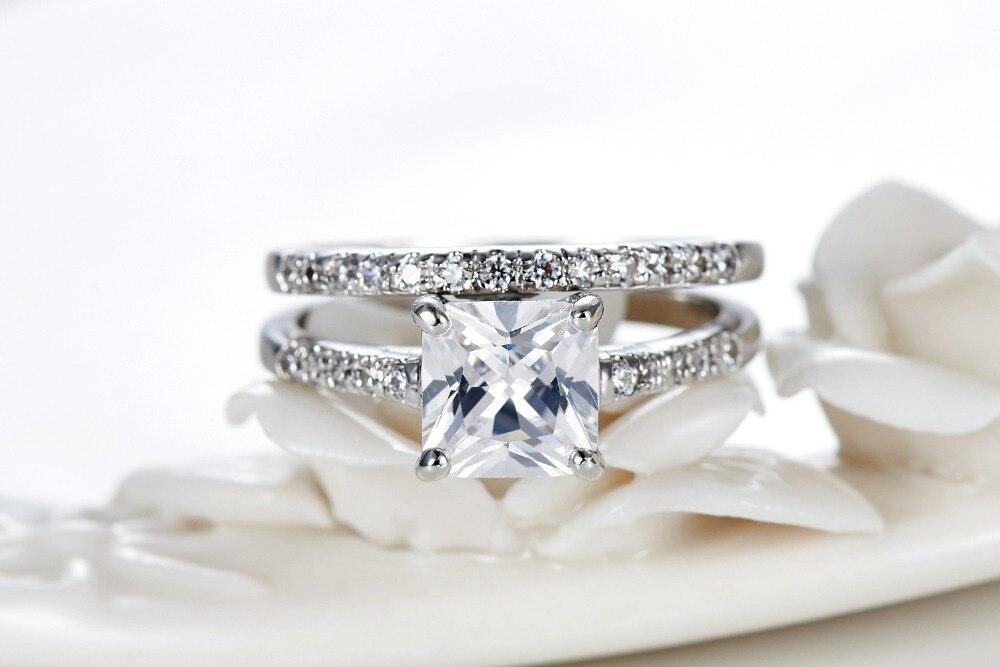Aliexpresscom Buy 16 Carat Princess Cut AAA CZ Diamond Silver