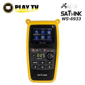 Image 1 - Satlink Original WS 6933 DVB S2 Satfinder ale C & KU bande numérique Satellite Finder 2.1 pouces écran LCD DVB S2 Sat mètre WS 6933