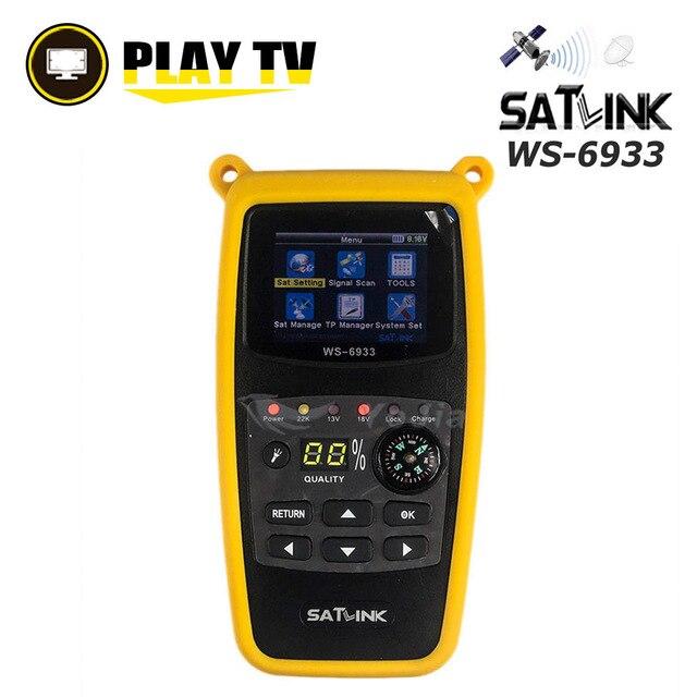 Satlink Original WS 6933 DVB S2 Satfinder ale C & KU bande numérique Satellite Finder 2.1 pouces écran LCD DVB S2 Sat mètre WS 6933