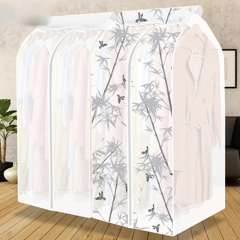 Large Capacity Home Clothes Garment Suit Coat Hanging Organizer Dust Cover Protector Household Wardrobe Storage Bag