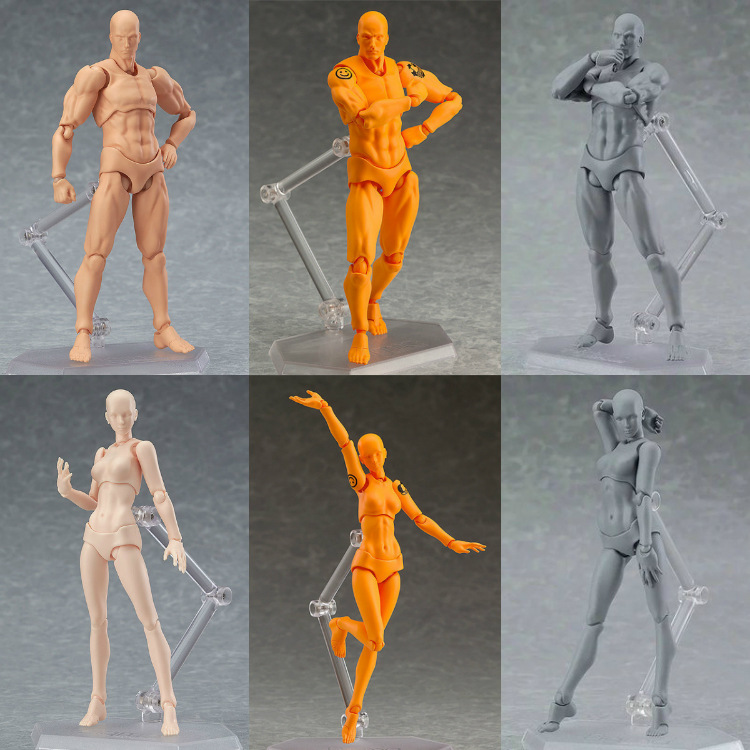 Figma Action Figure Body Chan Body Kun Figure Doll Toys shfiguarts pvc body kun body chan body chan body kun grey color ver black action figure collectible model toy