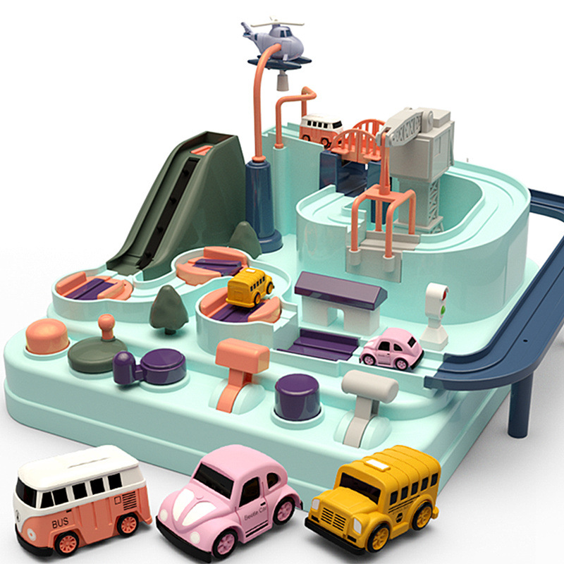 Car Model Track Educational Toys With Music Light Intelligence Big Risk Toys Macaroon Color New Design