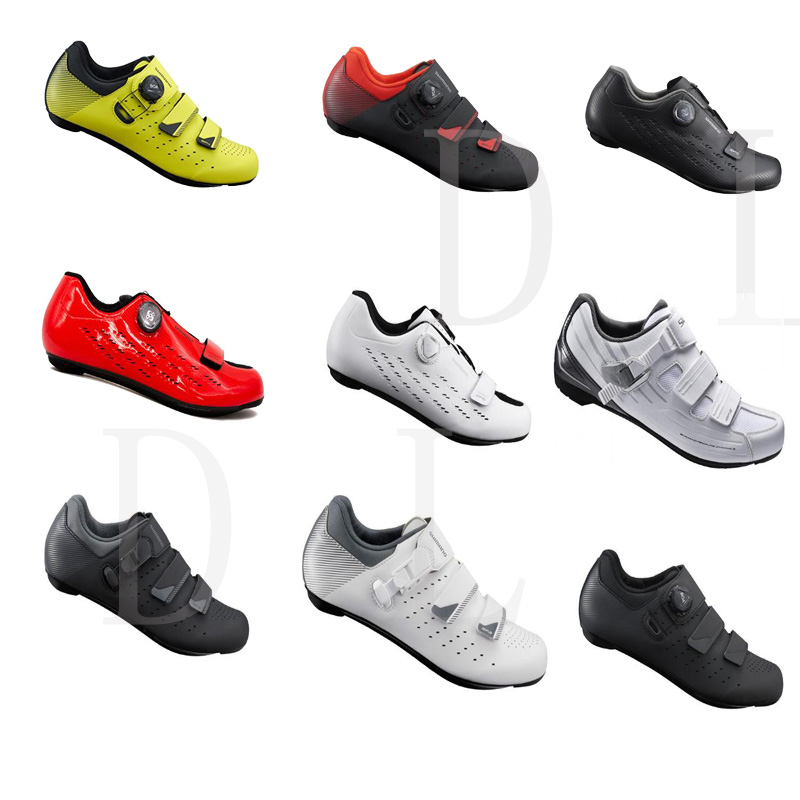 Shoes Racing Bicycle Shimano RP3 Red Red Road Bike Shoes SPD Sl 42-46
