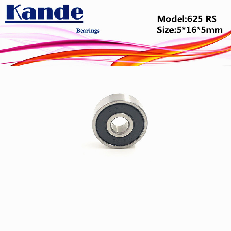 Kande <font><b>Bearings</b></font> 625rs ABEC-5 <font><b>625</b></font> 2RS Z3V3 <font><b>625</b></font>-2RS Miniature Deep Groove Ball <font><b>Bearing</b></font> <font><b>625</b></font> 5x16x5mm <font><b>625</b></font> <font><b>RS</b></font> image