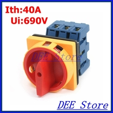 Нагрузки выключатель поворотный переключатель AC 690 В 40A 6 Клеммы 2 Положения Вкл-Выкл Ротари Cam Переключатель