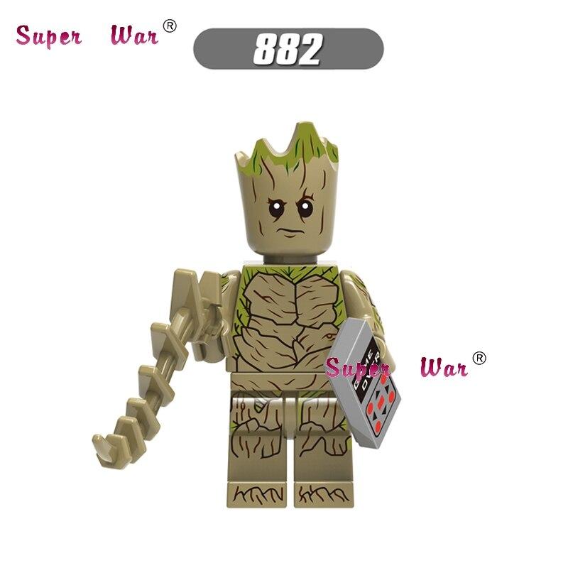 50pcs Marvel Avengers 3 Infinity War Thanos MCU Guardians of the Galaxy Iron Man building block