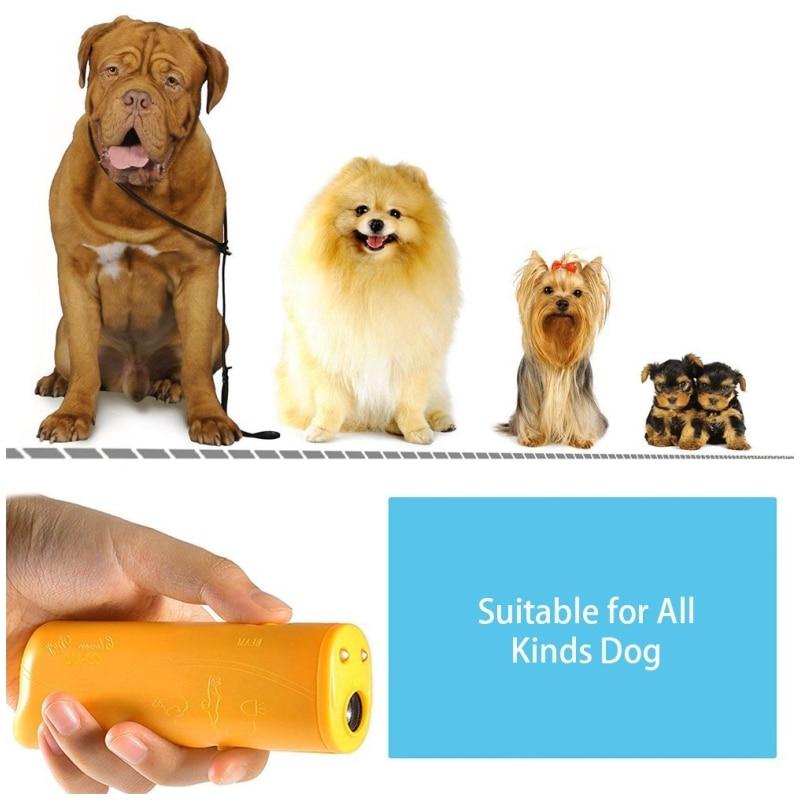 Strengthen Pet Dog Training equipment Ultrasound Repeller 3 in 1 Control Trainer Device Anti Barking Stop Bark Deterrents