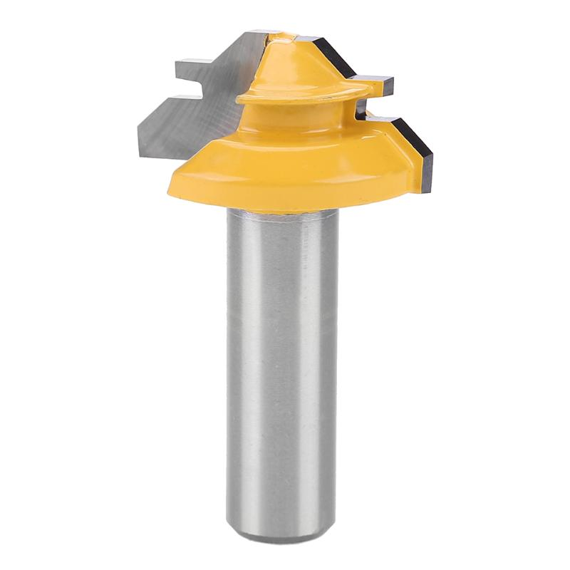 1/2 Inch Schaft Gelb T Slot Cutter Sperrloch Fräser Holz Werkzeuges Holzbearbeitung Stahl Griff Fräsen Cutter