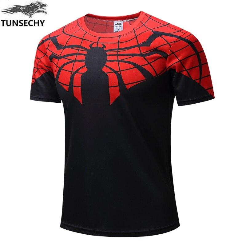High quality new 2016 Men superhero Batman Jersey shirt sports quick dry fitness compression drying T shirt 3D girly men