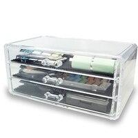 Crystal Acrylic Storage Box Cotton Swab Plastic Storage Box Acrylic Makeup Organizer Cosmetic Organizer Makeup Case