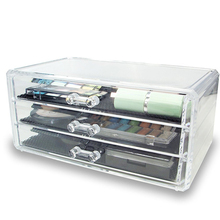 Crystal acrylic storage box cotton Swab Plastic Storage Box Acrylic Makeup Organizer Cosmetic Organizer Makeup Case Jewelry Box