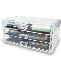 Crystal acrylic storage box cotton Swab Plastic Storage Box Acrylic Makeup Organizer Cosmetic Organizer Makeup Case Jewelry Box