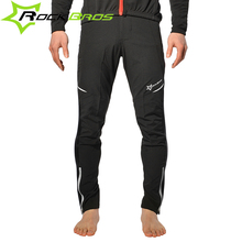 ROCKBROS Men Bicycle Elastic Pants Outdoor Soft Shell Cycling Waist Pants Sports Multifunction Sportswear Bike Reflective Tights
