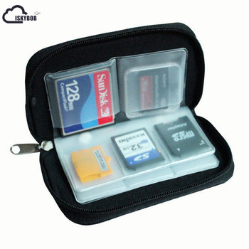 ISKYBOB 22 Slots CF SD XD MS Card Portable Storage Pouch Case Holder Wallet Bag Passport & ID Holders