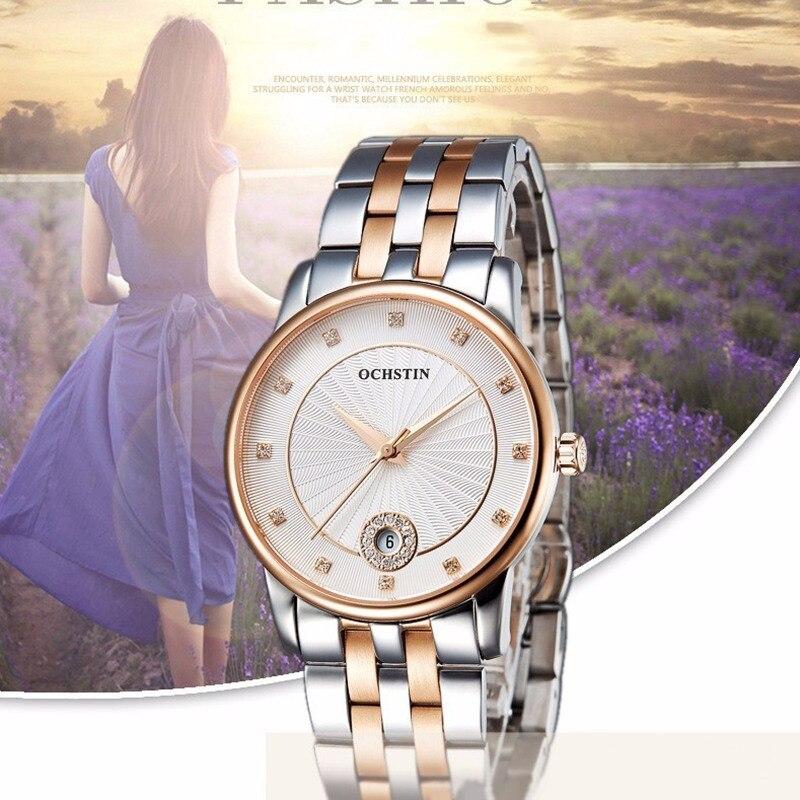 Hot  Watches Women Ladies Luxury Ochstin Auto Date Quartz Watch Bracelet Wrist For Woman Waterproof Stainless Relogio Feminino