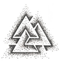 Waterproof Temporary Fake Tattoo Stickers Cool Grey Geometric Triangle Dotwork Unique Design Body Art Make Up Tools