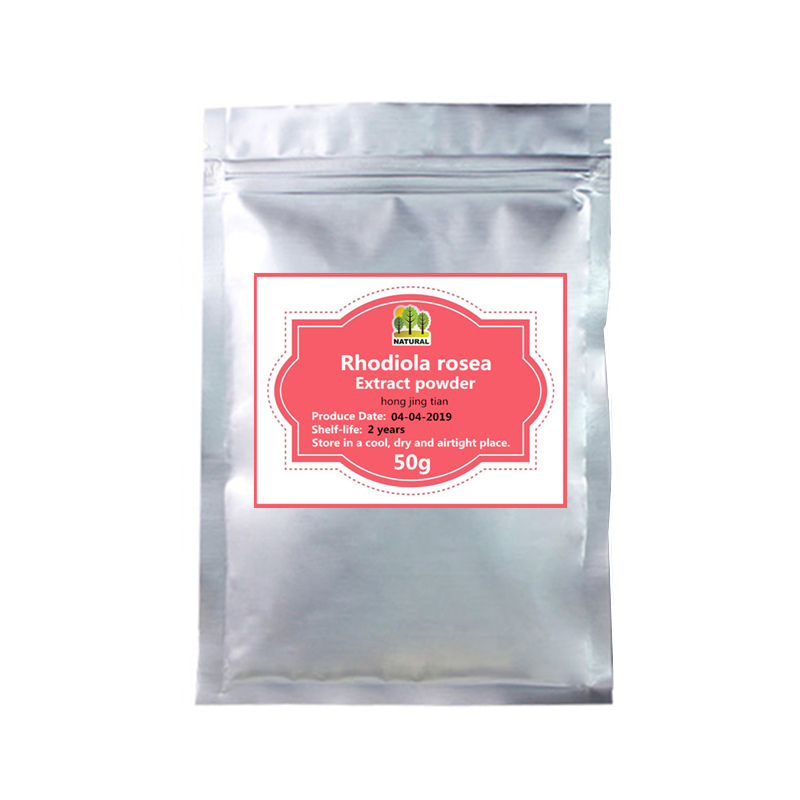 50-1000g,Organic Rhodiola Rosea Extract Powder,Herb Rhodiolae/Salidroside Rosavin/Hong jing tian, Stress Relief, Anxiety Support image