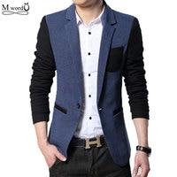 2016 New Spring Mens Slim Fit Blazer Casual Men S Suits Jacket Men Wedding Dress Blazer