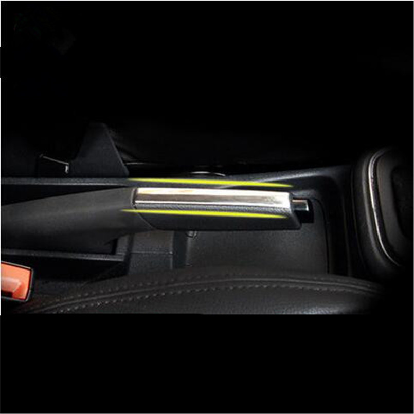Car-styling Stainless steel modified decorative Hand brake cover trim sticker case for Volkswagen vw POLO 2011-2017