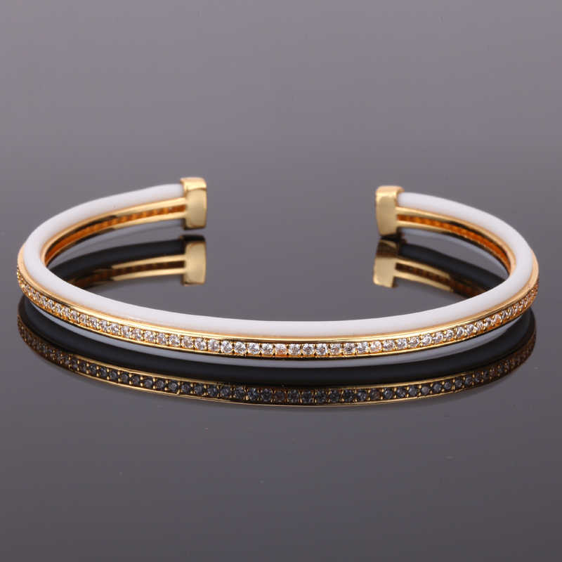 Mcllroy bangle men/trendy/gold/rose gold cz zircon cuff bracelets bangles jewelry for women men 2019 fashion