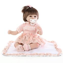 16 45 cm New Born Baby Dolls Renascer Bebe De Menina Crianças Melhor Presente Silicone Renascer Baby Dolls para Crianças Feitos À Mão Da Princesa Bonecas