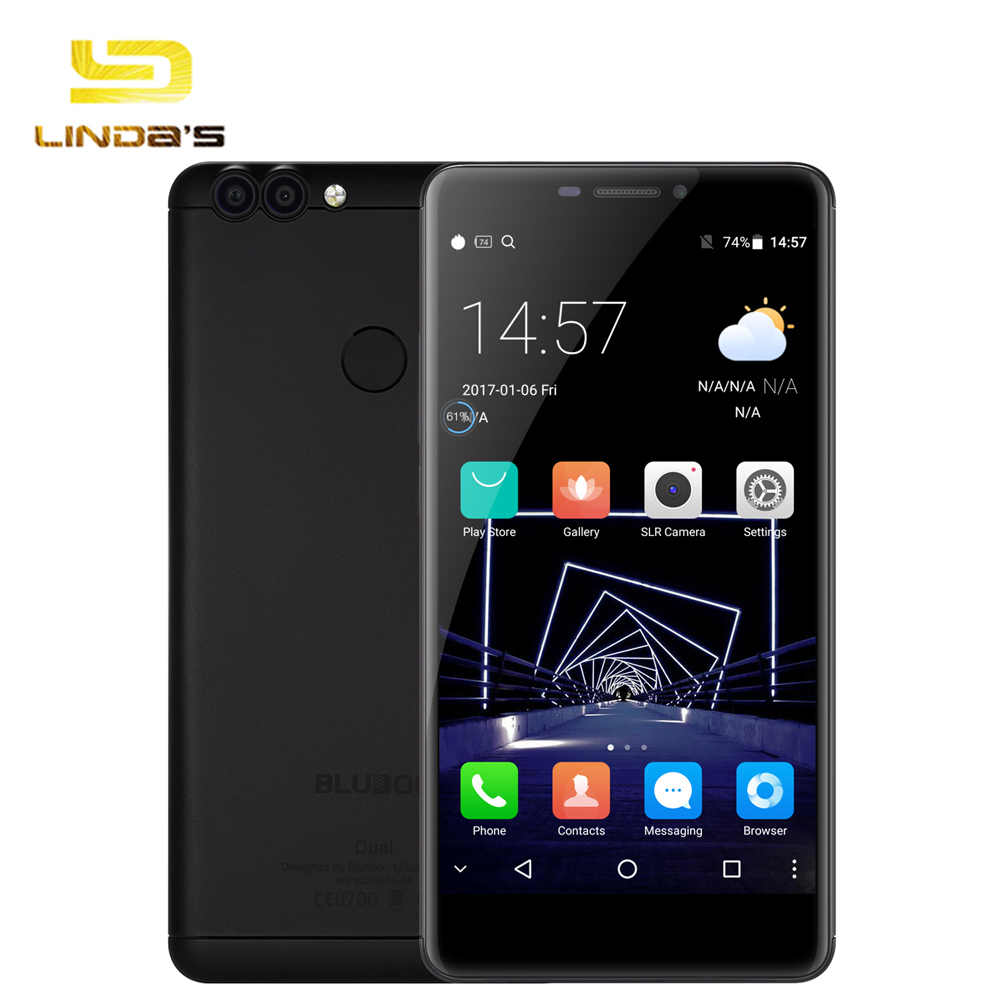 bilder für Original bluboo dual 5,5 ''android 6,0 4g smartphone mtk6737 quad core 1,5 ghz 2 gb ram 16 gb rom 13.0mp doppelkameras phablet